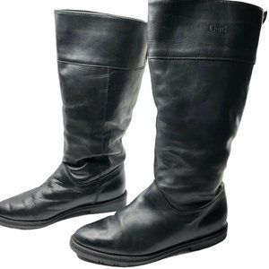 Orvis Black Leather Riding Boots Womens Size 8.5B